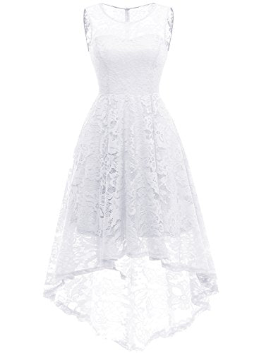 99991aff434013 MUADRESS Women s Vintage Floral Lace Sleeveless Hi-Lo Cocktail Formal Swing  Dress
