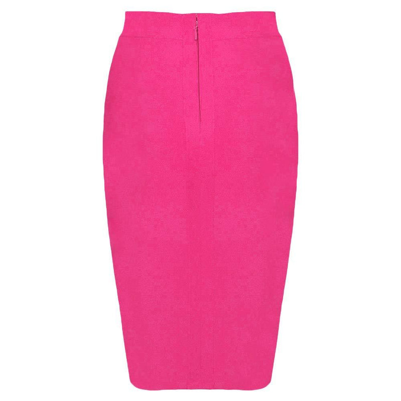 Nayssi Women's High Waist Knee Length Bandage Pencil Skirt