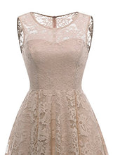 MUADRESS Women's Vintage Floral Lace Sleeveless Hi-Lo Cocktail Formal Swing Dress