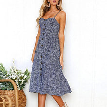 TOOPOOT Wome Summer Dress, Lady Sexy Bodycon Backless Spaghetti Casual Button Midi Dress