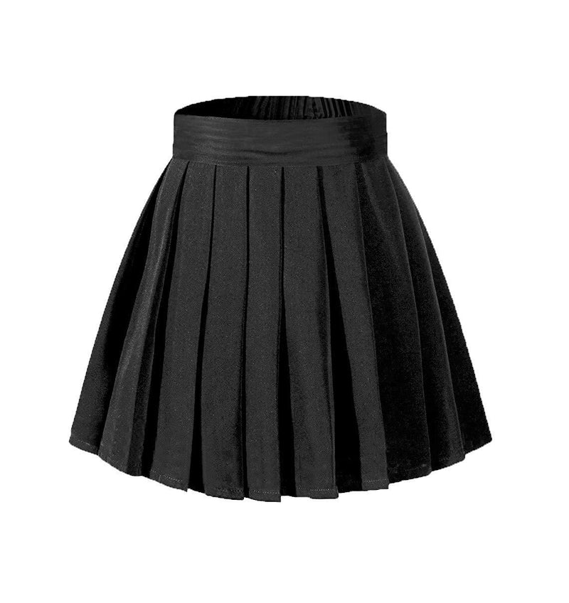 Beautifulfashionlife Women's High Waisted Pleated Mini Skirt A-line Shorts with Elastic Wide Waistband