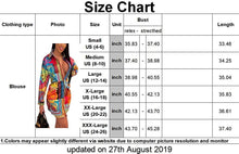 Women's Loose Floral Print Blouses Sexy Long Sleeve Button Down Top Casual Collar Tunic Shirts Dress