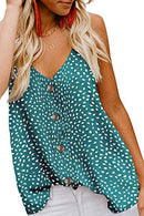 jonivey Women's Button Down V Neck Strappy Cami Tank Tops Casual Sleeveless Blouses Vest