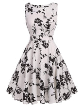 ARANEE Vintage Classy Floral Sleeveless Party Picnic Party Cocktail Dress