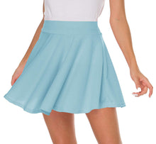 Sinono Basic Stretchy Solid Flared Casual Mini Pleated Skater Skirt