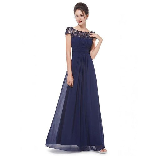 ALABIFU Chiffon Summer Dress Women 2018 Elegant Slim Lace Long Party Dress  Wedding Bridesmaids Maxi Dresses 2fcd173824da