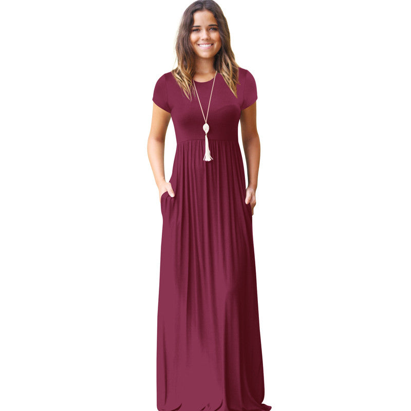 Women Long Dress Summer Maxi Dress Purple Red Dress Zomer Jurk Vestidos Verano robe femme ete