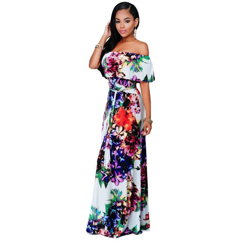 9df571c6540 Dear Lover Summer Dresses Party Gowns Sexy Womens Multi-color Floral Print  Off-the