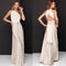 Dreszdi Sexy Women Long Formal Party Dress Floor length Boho Bandage Bridesmaid Maxi Dress Club Backless Halter v neck vestido