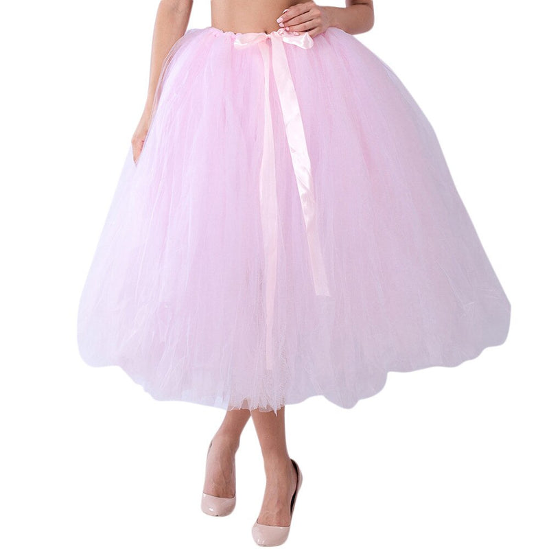 Spring Skirt Of Women Mesh TulleTutu Bridesmaid Princess Bubble Maternity Skirt For Ladies Fashion Women Skirt