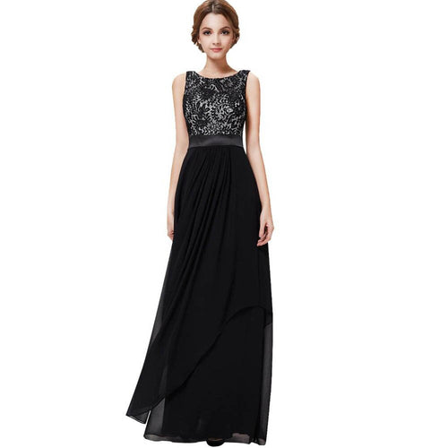 Women elegant chiffon maxi dress Embroidery design sleeveless o neck long dress Female summer party dresses vestidos