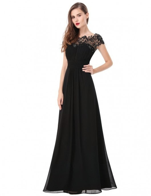 Spring Summer Dress Women Elegant Chiffon Lace Long Party Dress Plus Size Wedding Bridesmaids Maxi Dresses Female vestidos