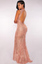 Sexy Backless Sequin Maxi Dress Elegant Evening Paillette Robe Sexy Bodycon Party Dresses Summer Mermaid Dress