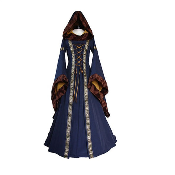 Medieval Dress New Women Vintage Style Gothic Dress Costume Pirate Ball Gown Peasant Wench Victorian Dress