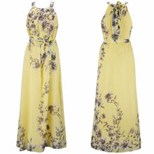 Plus Size S-6XL 2019 Summer New Women Long Dresses Beach Floral Print Boho Maxi Dress With Sashes Women Clothing D86001L