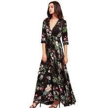 Sexy Casual Long Dress Femme Plus Size Party Dresses Summer Beach Dress Women Vestidos Robe Femme Elegant Print Robe Boho 2018