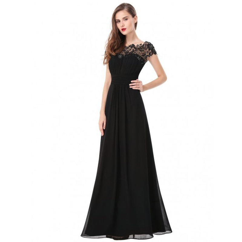 Summer Dress Women 2018 Vintage Chiffon Sleeveless Lace Elegant Evening Party Dress Long Plus Size Wedding Maxi Dresses vestidos