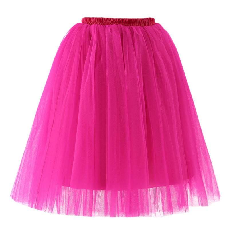 Tutu Tulle Skirt Womens High Quality Pleated Gauze Knee Length Skirt Adult Tutu Dancing Skirt Wedding faldas Mujer saias jupe
