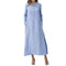 Women Kaftan Cotton Long Sleeve dress Casaul Oversized Maxi Long Shirt Dress Cotton Linen Denim Loose Split Work Vestido dresses