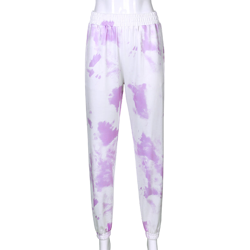 Pink Camouflage Pants Womens Camo Cargo Sweat Pants High Waist Elastic Trousers Casual Baggy Joggers Print Pockets