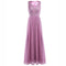 Elegant Women Ladies Embroidered Chiffon Sleeveless Long Dress for Birthday Party Formal Prom Gown Wedding Maxi Dresses