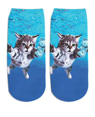 Cat Cobain Ankle Socks