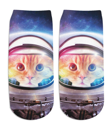 Space Cat Ankle Socks