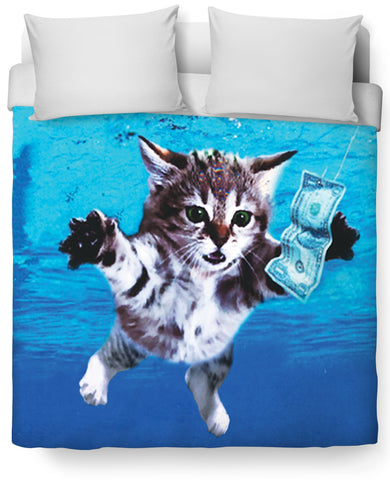 Cat Cobain Duvet Cover