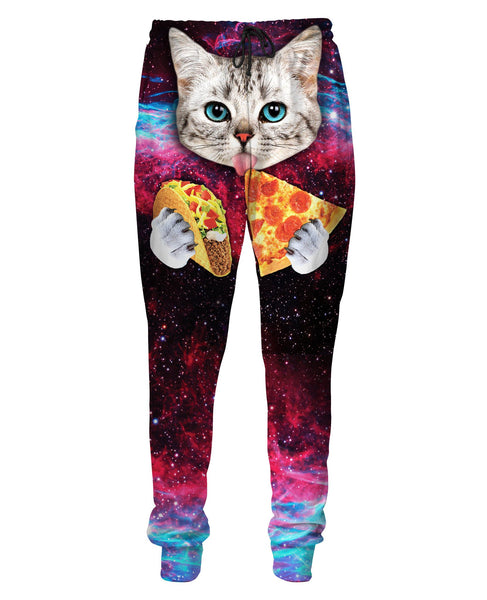 Taco Pizza Space Cat Sweatpants