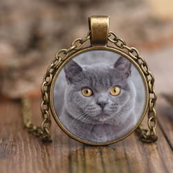 British Shorthair Cat Necklace