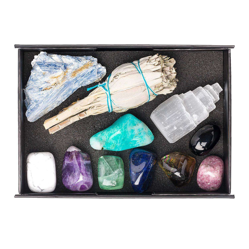 11pc Calm Premium Crystal Healing Setcrystal