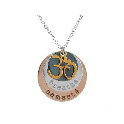 Ohm Breathe Namaste Pendant Necklace,Jewelry & Watches,[product_vender],Mindful Bohemian