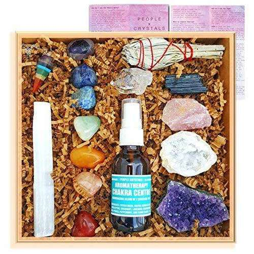 16pc Premium Healing Crystals Meditation Full Gift Setcrystal