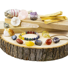 17-pc White Sage, Palo Santo Wood & Crystal Healing Kitcrystal