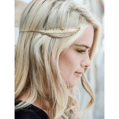 Gold Feather Crown Hair Piece -  Free People - Bohochic - Music Festival