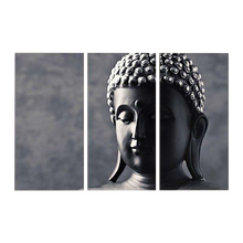 Canvas Buddha 3 Pc