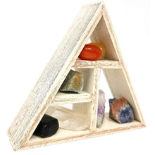 Chakra Crystals, Healing Stones and Grid Shelf Set Holder Kitcrystal