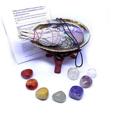 Chakra Stone Set with 7 Crystals - Smudge Gift Kitcrystal