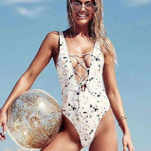 All The Glitters Monokini -  Free People - Bohochic - Music Festival