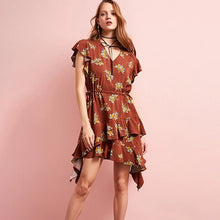 Flora Butterfly Sleeves Dress