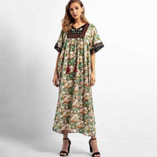 Forest and Floral Tasseled Dressdress