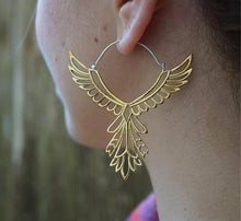 Hollow Thunderbird Drop Earrings