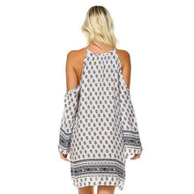 Women's Cut Out Shoulder Boho Dress,,[product_vender],Mindful Bohemian
