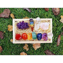 Premium Healing Crystals Gift Kit in Wooden Box with E-Book and Postercrystal