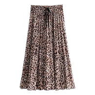 Stylish Bowfront Pleated Skirt