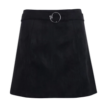 Waist Belt Velvet-like Skirt