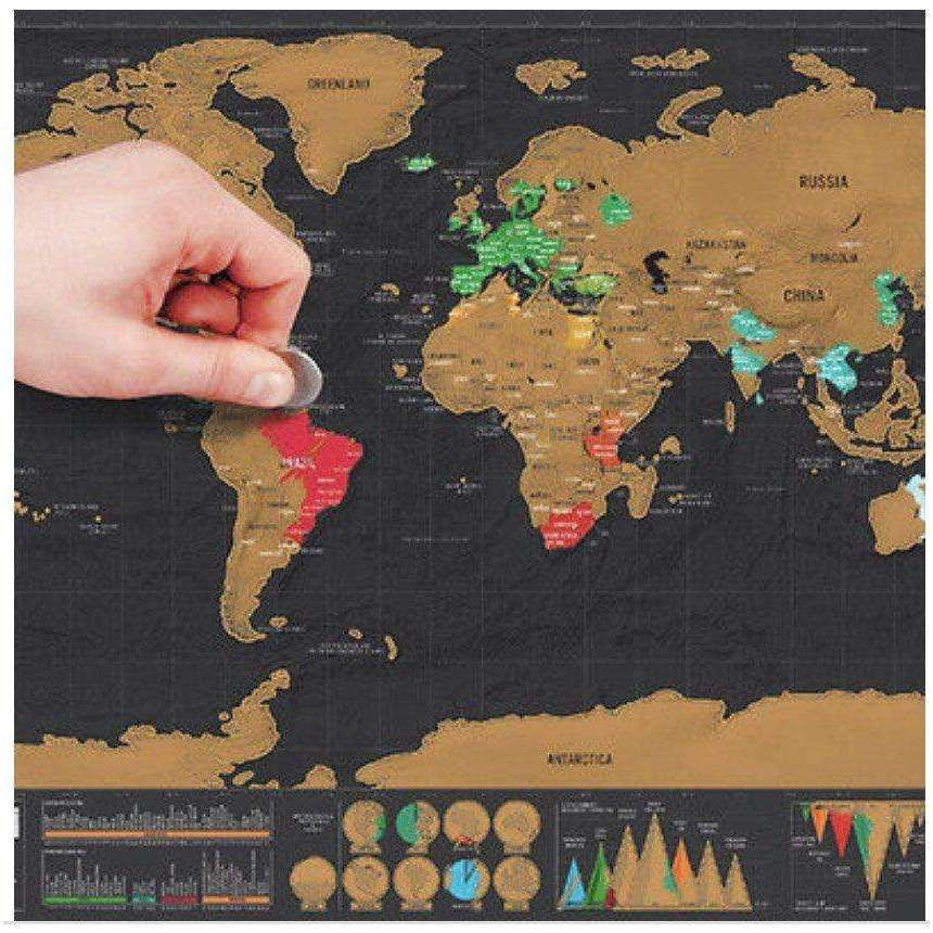 Deluxe World Scratch Map -  Free People - Bohochic - Music Festival