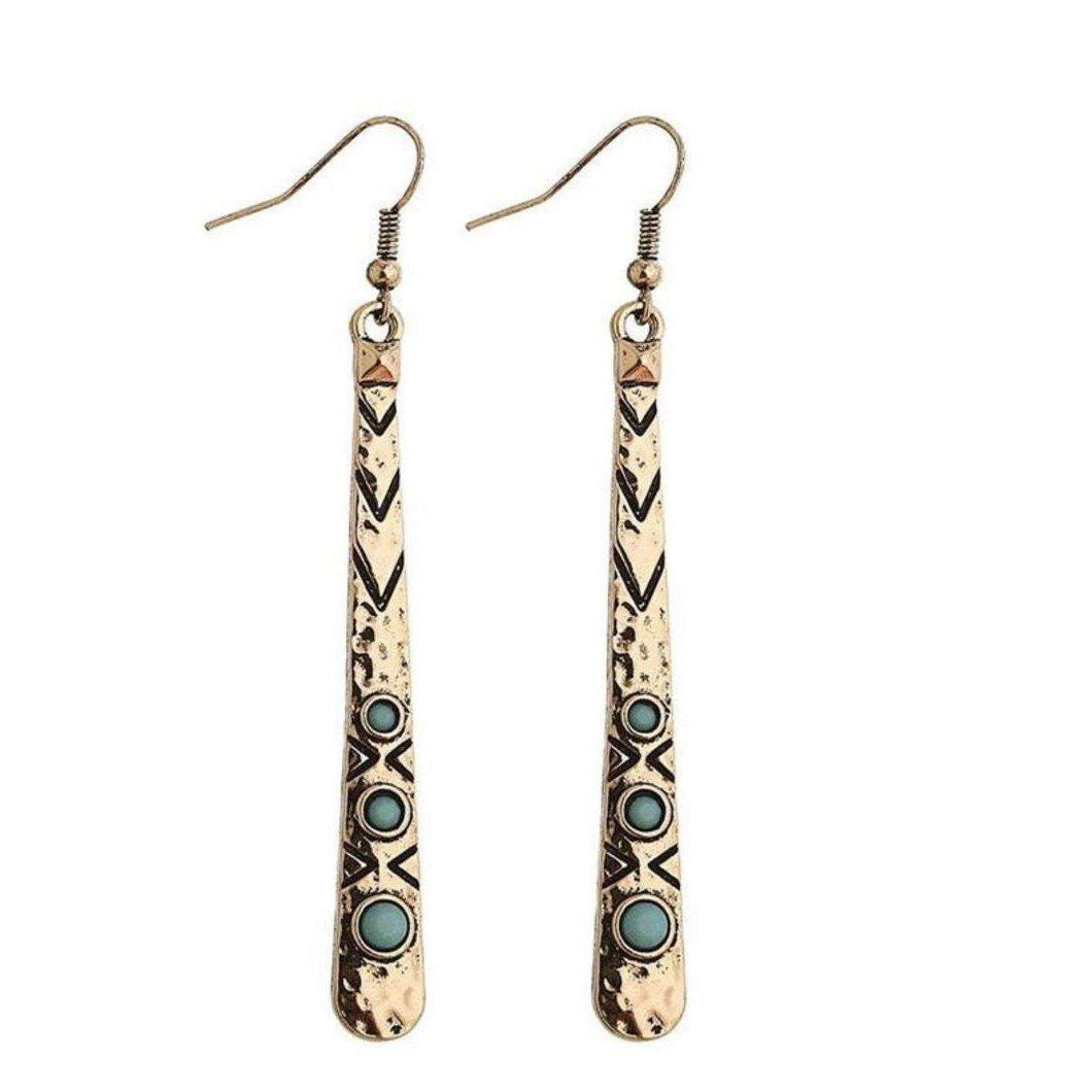 Hieroglyphic Earrings -  Free People - Bohochic - Music Festival