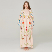 Embroidered BlueBird Women Maxi Dress