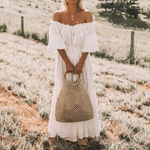 Classic Summer Boho White Dress
